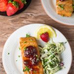 Baked Strawberry Salmon