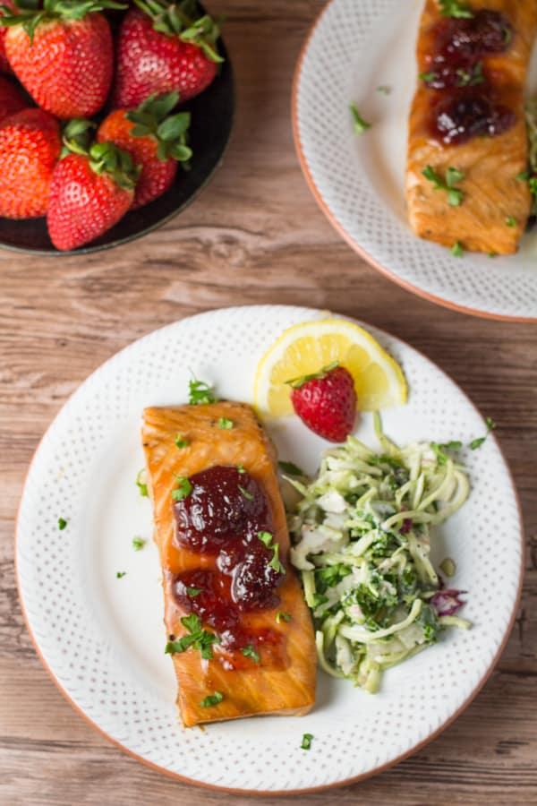 Baked Strawberry Salmon