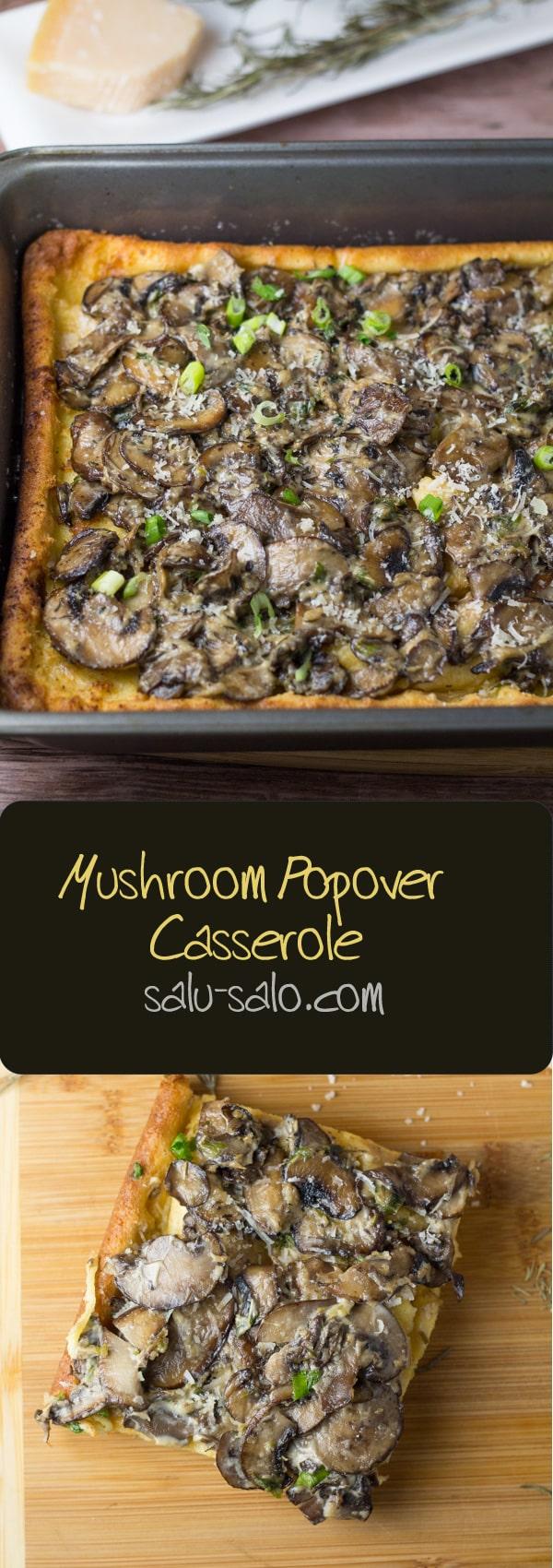 Mushroom Popover Casserole