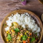 Ground Pork with Corn, Green Peas and Potato