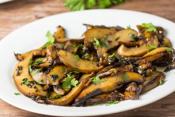 Sauteed Portobello Mushroom with Butter Sauce