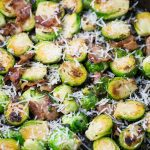 Parmesan Garlic Brussels Sprouts with Bacon