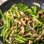 Ginger Sesame Asparagus and Shiitake