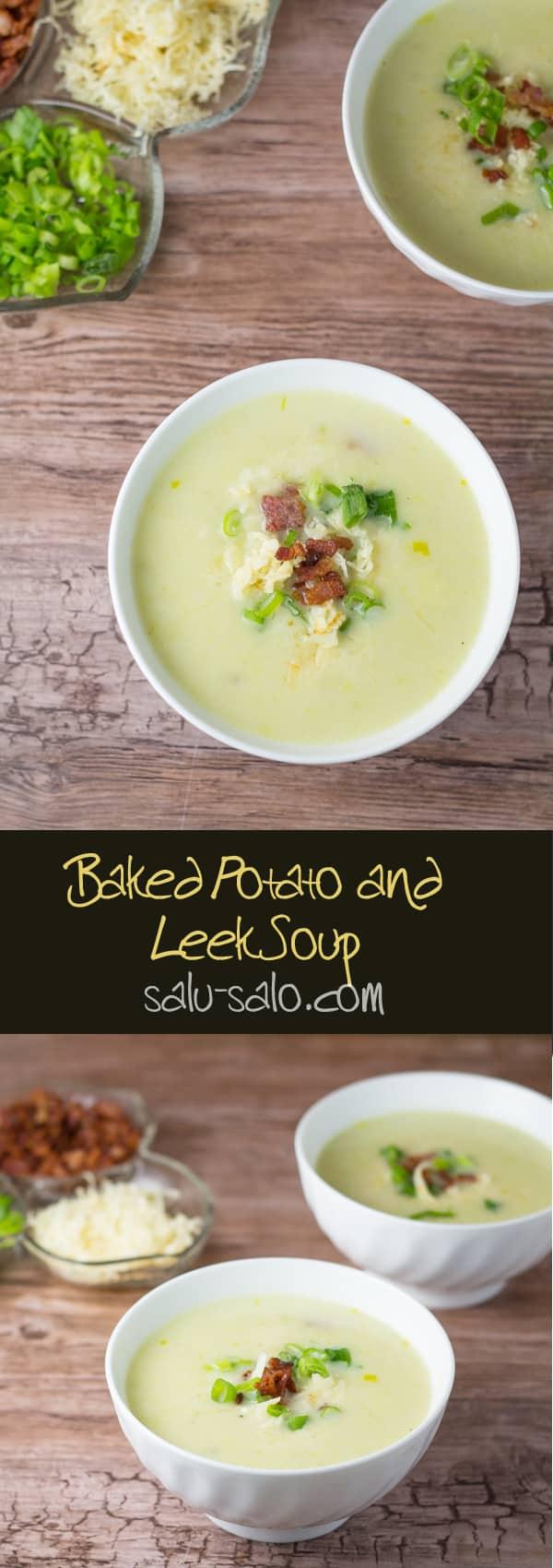 Baked Potato and Leek Soup