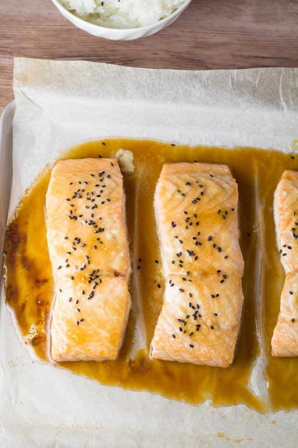 Maple Sesame Baked Salmon