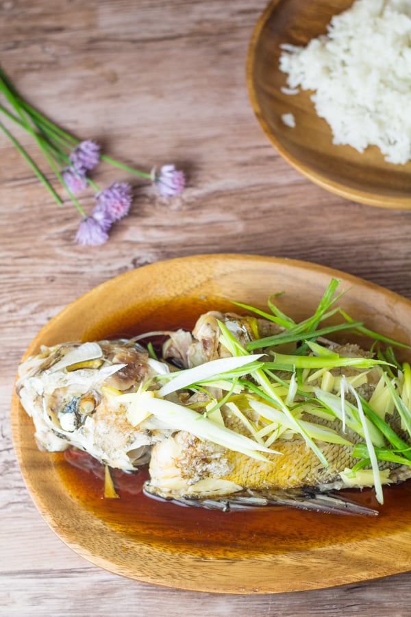 Steamed Whole Rock Fish
