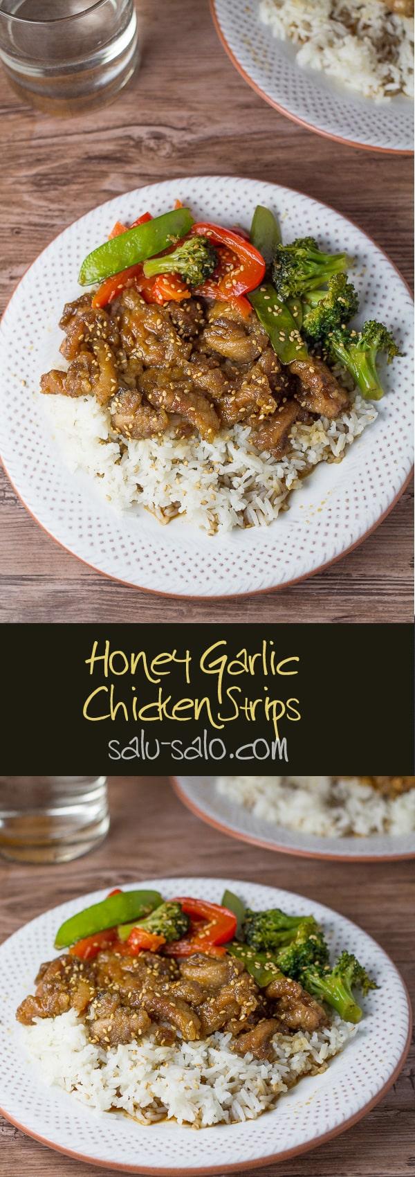 Honey Garlic Chicken Strips
