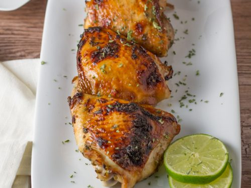 Vietnamese Style Baked Chicken Thighs