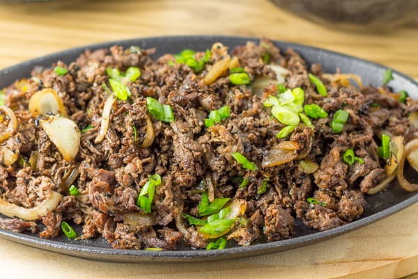 Bulgogi on a serving plate