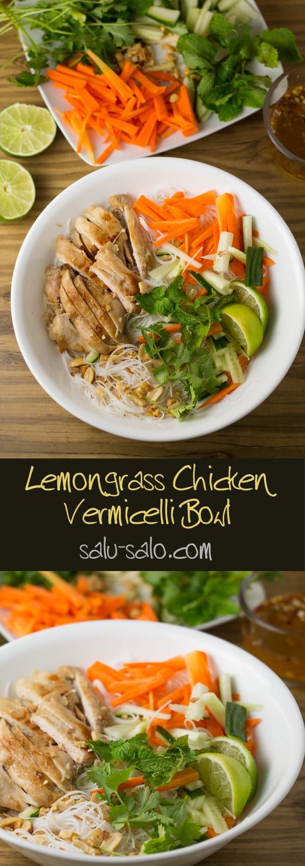 Lemongrass Chicken Vermicelli Bowl