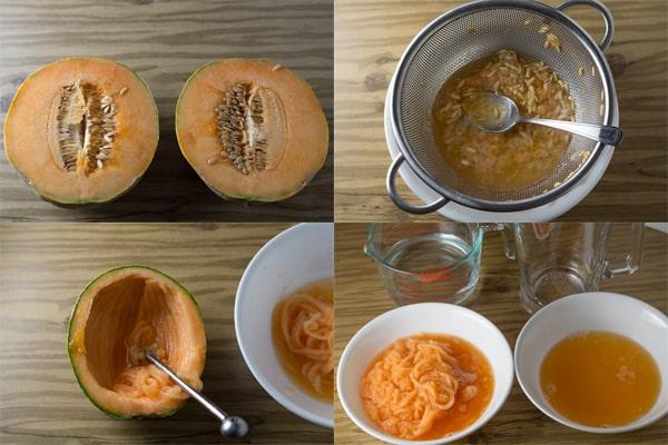 Melon Drink Steps
